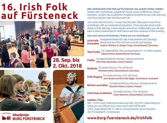 16. Irish Folk auf Fürsteneck