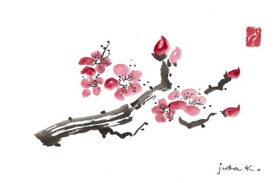 Japanische Tuschmalerei